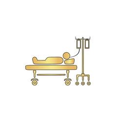 Hospitalized computer symbol vector
