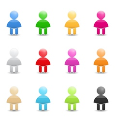 Human Icons vector image vector image