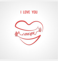 i love you typographical design elements vector image
