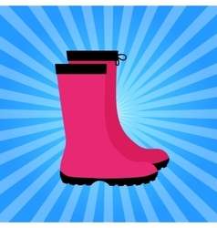 Insulated rubber boots icon vector