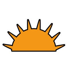 isolated half sun vector image vector image