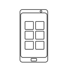isolated smartphone cellphone vector image