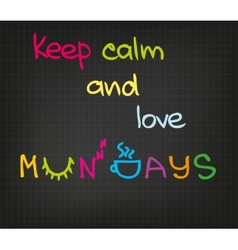 Monday attitude vector