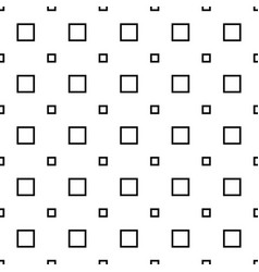 Monochrome seamless abstract geometrical square vector