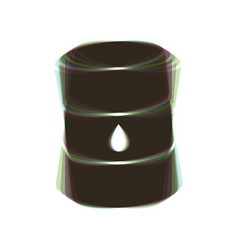 Oil barrel sign colorful icon shaked with vector
