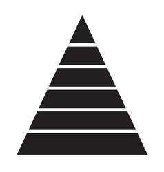 Pyramid chart icon on white background pyramid vector