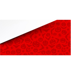 Red background with halloween pattern vector