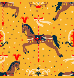 Retro circus pattern vector