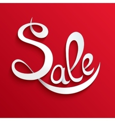 Sale lettering Design Template Typography vector image