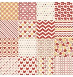 Seamless heart retro pattern vector