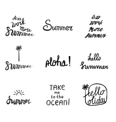 Set of 9 summer labels vector image