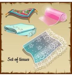 Set of various rich tissue oriental motifs vector