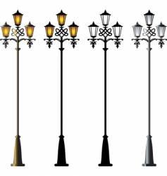 street lamp vector image vector image