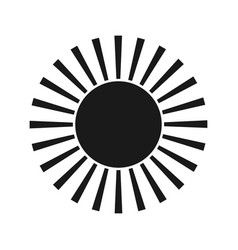 sun black icon element for design vector image vector image