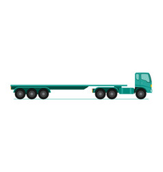 truck trailer long vehicle with flat design style vector image vector image