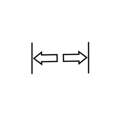 width icon vector image