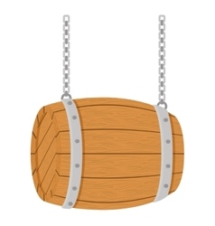 Wooden barrel icon image design vector