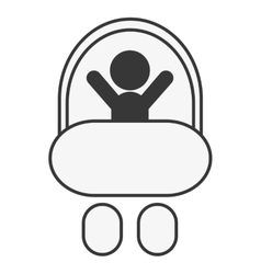 Baby in stroller icon vector