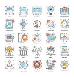 Flat color line icons 2 vector