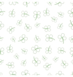Natural chamrock texture cartoon clover leaves vector