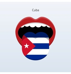 Cuba language abstract human tongue vector