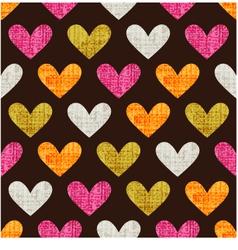 seamless heart grunge texture pattern vector image