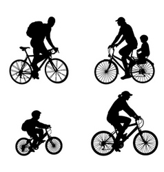 Recreational bicyclists vector