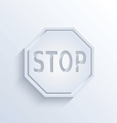 Stop sign with shadow vector