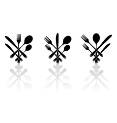 Three cutlery vector