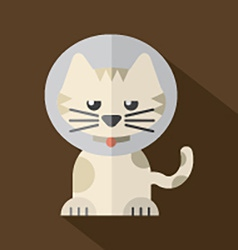 Featuring a cat wearing a cat collar vector
