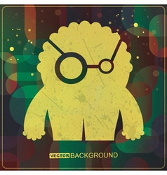 Monster on grunge background vector