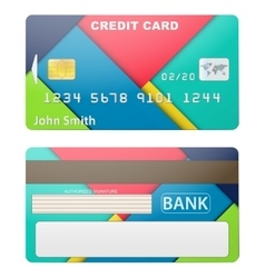 Detailed credit card vector