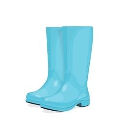 Blue rubber boots vector