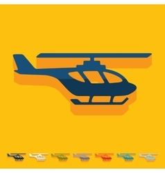 Flat design helicopter vector