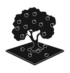 apple single icon in black style apple vector image vector image