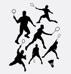 Badminton sport tournament silhouette vector