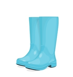 Blue rubber boots vector