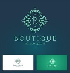 Boutique floral logo vector