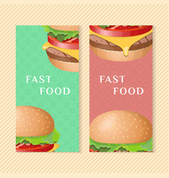 Burger banners vector