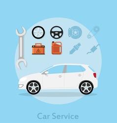 car service vector image vector image