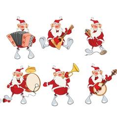 Cartoon of santa claus for you design vector