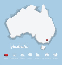 Commonwealth of Australia map vector image