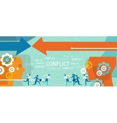 conflict management business problem vector image vector image