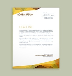 corporate modern letterhead design vector image vector image