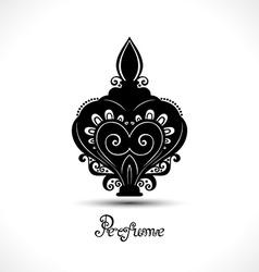 Decorative ornate bottle of perfume vector