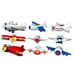 Different plane designs vector