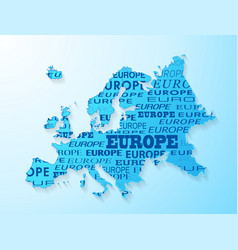 Europe map presentation vector