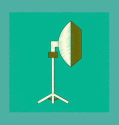 Flat shading style icon professional lighting vector