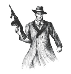 Gangster vector image vector image
