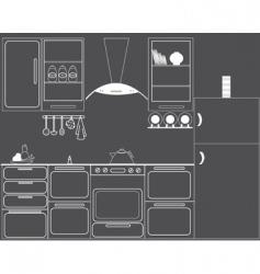gas hob kitchen vector image